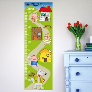 Personalised Three Little Piggies Height Chart