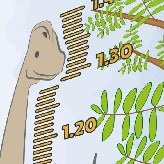 Personalised Brachiosaurus Height Chart