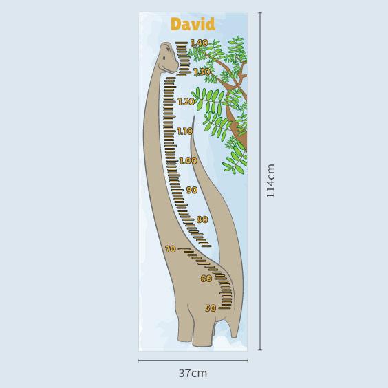 Personalised Brachiosaurus Height Chart