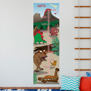 Personalised Dinosaurs Height Chart