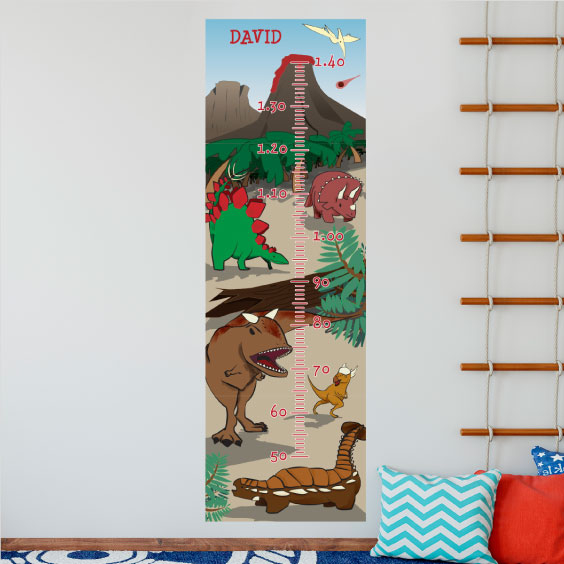 Personalised Dinosaurs Height Chart Stikets