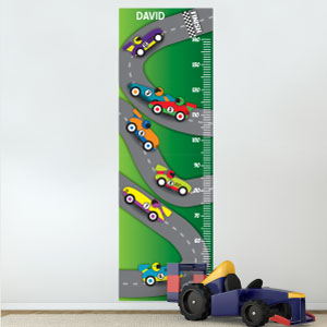 Personalised Racing Cars Height Chart