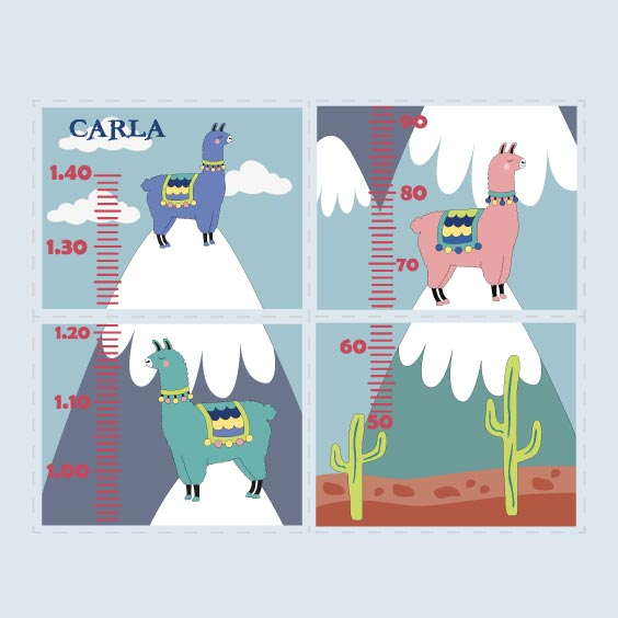 Personalised Llama Height Chart