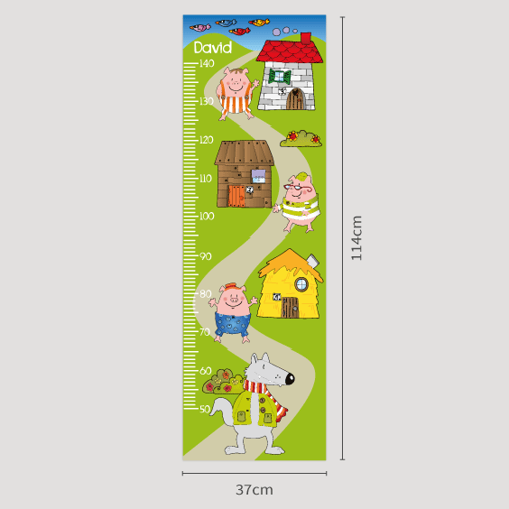Personalizable Three Pigs Growth Chart