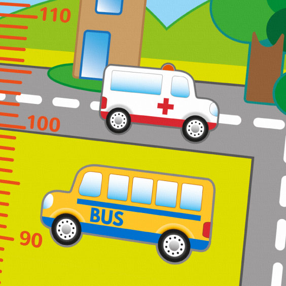 Personalised Transport Height Chart