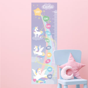 Personalised Unicorns Height Chart