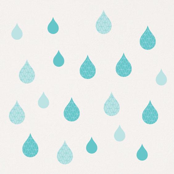 Stickers gouttes d'eau vert turquoise