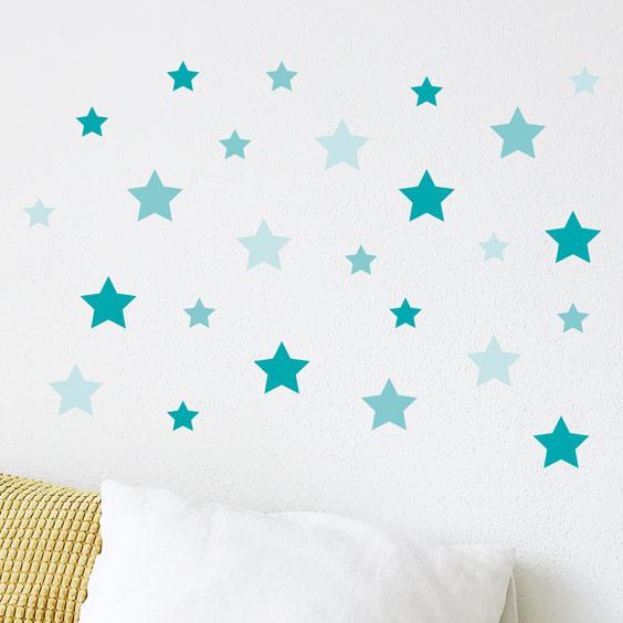 Vinilo de estrellas de color mint
