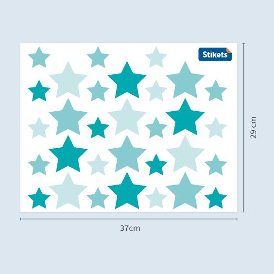 Blue Stars Wall Decals