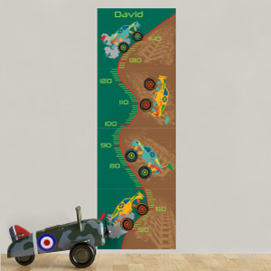 Personalised Monster Trucks Height Chart
