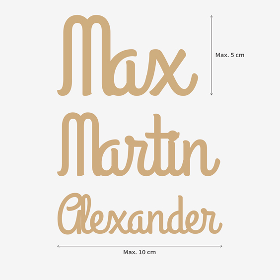 Petites lettres en bois et prénoms personnalisés