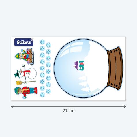 Adesivi Palla di Neve