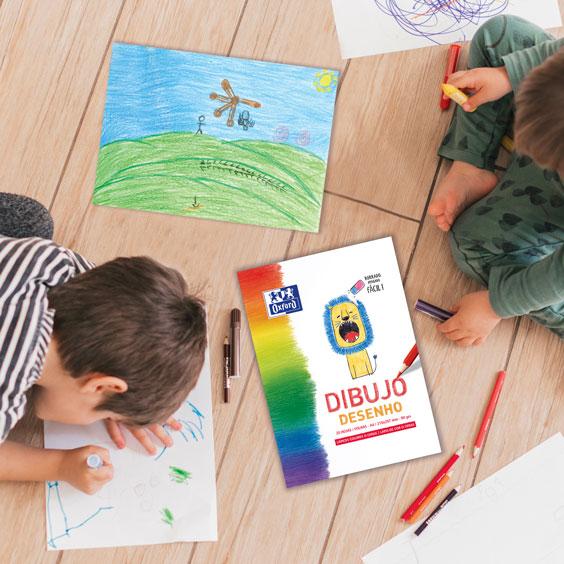 Oxford bloc dibujo A4 gama kids