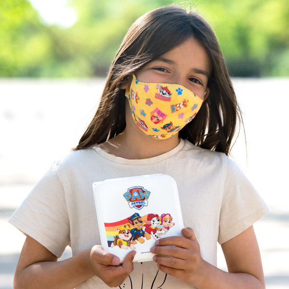 Paw Patrol Mask + 10 filters and Mask Box Pack for children 6 to 12 years