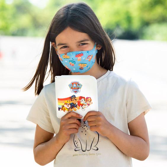 Pack Mascareta i caixa de la Patrulla Canina per a nens de 6 a 12 años + 10 filtros