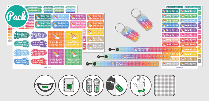 Armbandspaket fyrkanter