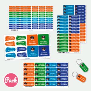 Packs di etichette personalizzate