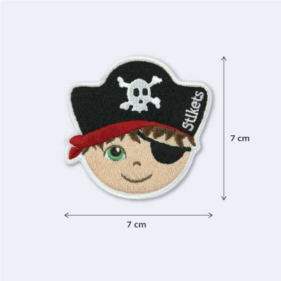 Pirate Boy Embroidered Patch