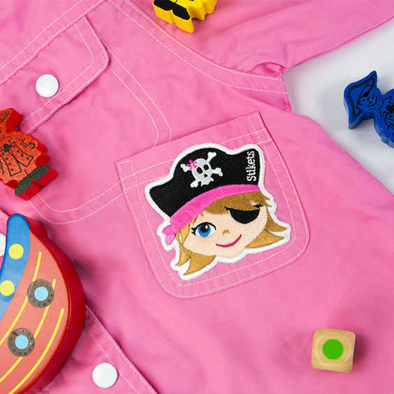 Girl Pirate Embroidered Patch