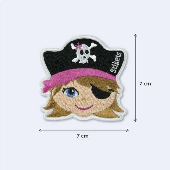 Ecusson thermocollant pirate fille