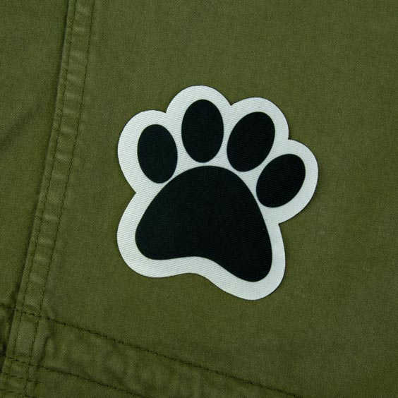 Patch thermocollant en forme de patte d'animal pour textile