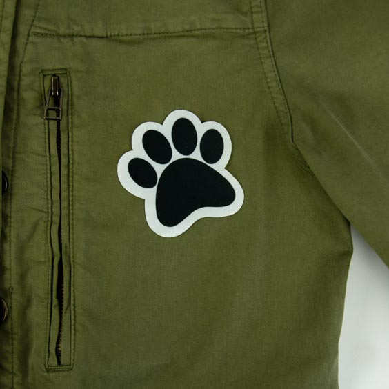 Animal Footprint Iron-On Patch