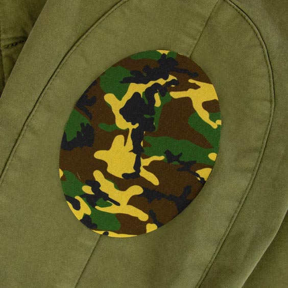 Junior Camouflage Iron-On Patch