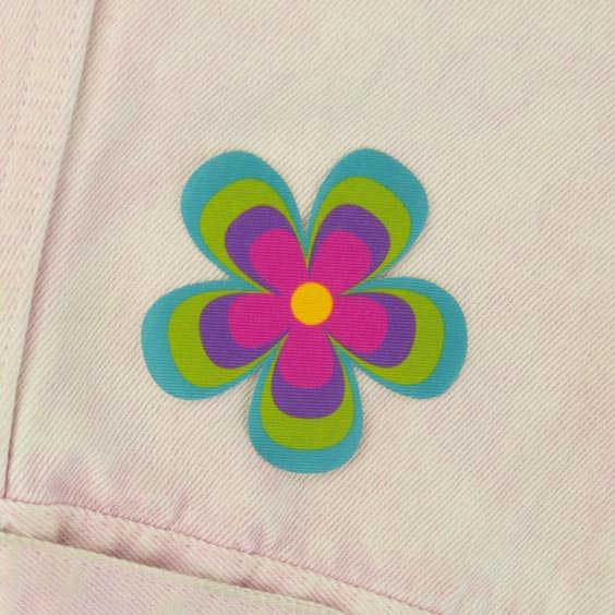 Pegat de flor per a roba