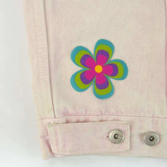 Parche de flor para ropa