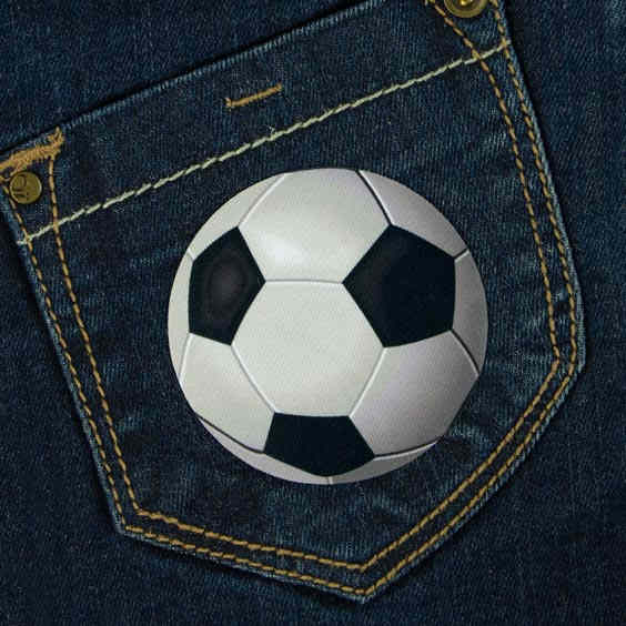 Patch thermocollant motif balon de foot pour textile