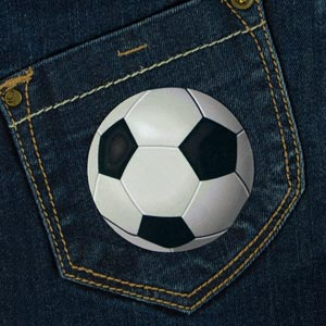Football Iron-On Patch