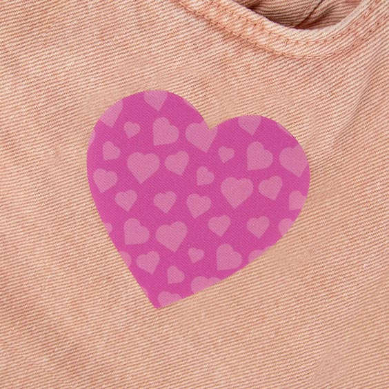 Heart Iron-On Patch