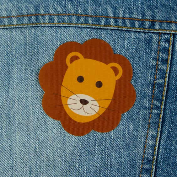 Patch thermocollant motif lion pour textile
