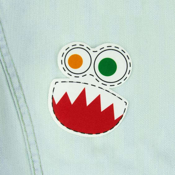 Patch thermocollant motif monstre garçon pour textile