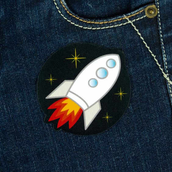 Rocket Iron-On Patch