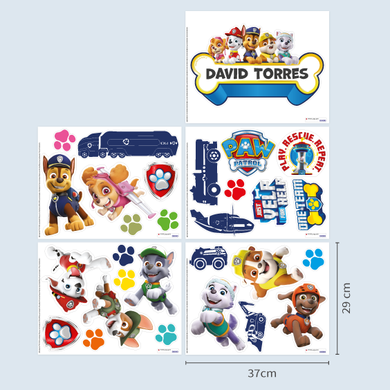 Paw Patrol Custom Wall Stickers