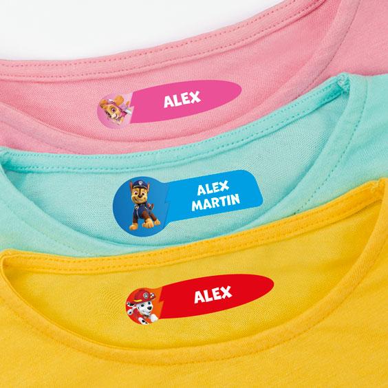 Paw Patrol Clothing Labels