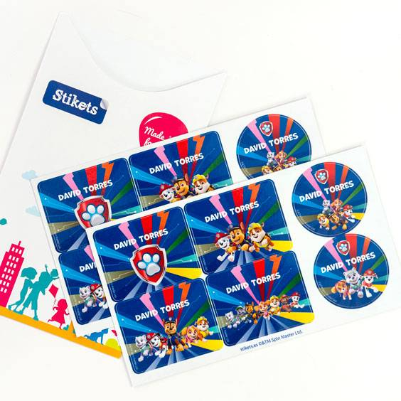 Paw Patrol Labels for Water Bottles and Lunch Boxes