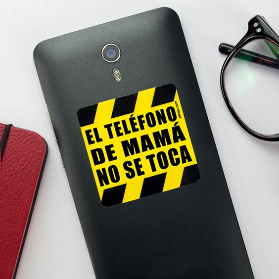 Do Not Touch Mom's Phone Sticker