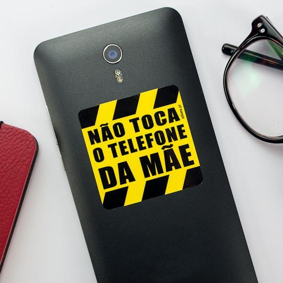 Pegatina el teléfono no se toca para telemóvel