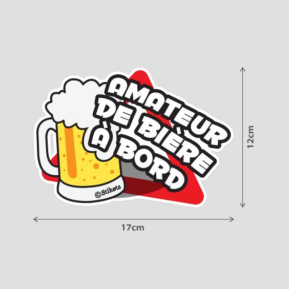 Amateur de bière à bord