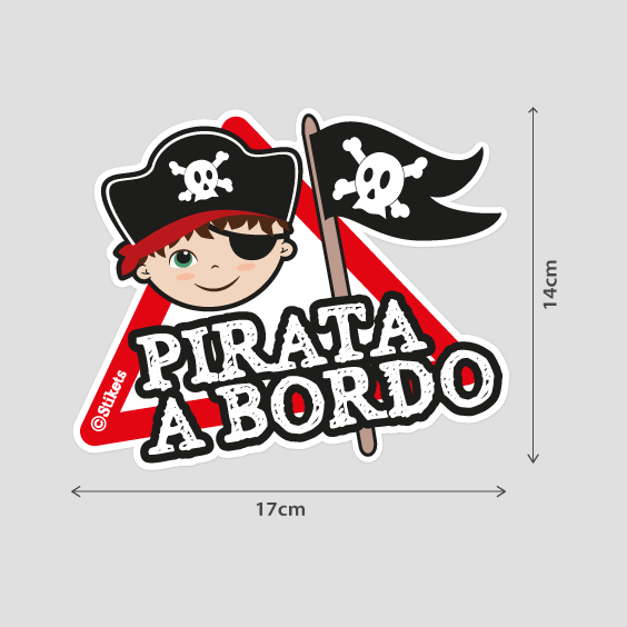 Niño pirata a bordo b