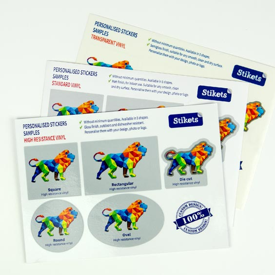 Sample personalized stickers