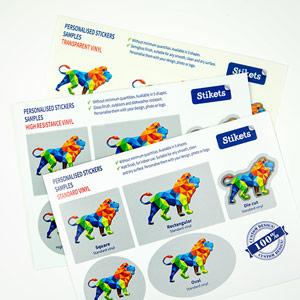Exempel på egendesignade klistermärken