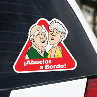 Grandparents On Board Sticker