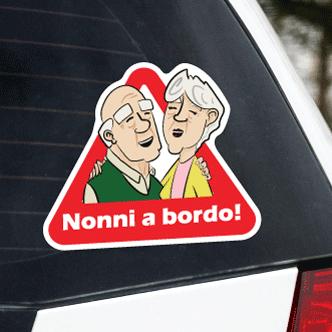 Adesivo Nonni a bordo