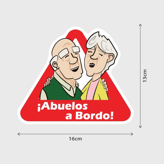 Pegatina Abuelos a Bordo