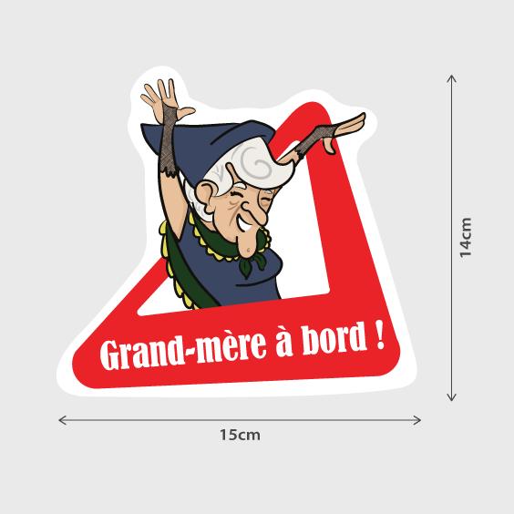 Grand-mère à bord - B