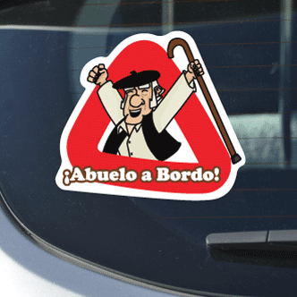 Grandpa On Board Sticker