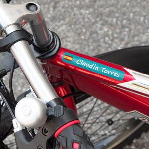 Etiquetes per a bicis grans